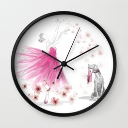 DANCE OF THE CHERRY BLOSSOM Wall Clock