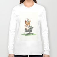 shopping Long Sleeve T-shirts featuring Shopping by Miranda Currie