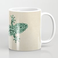 ornate Mugs featuring Ornate Lizard by Barruf