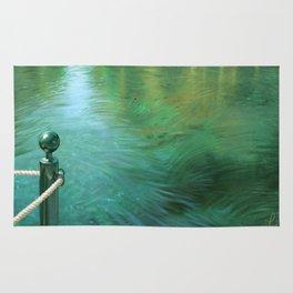 Waterscape digital painting Rug