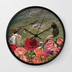 Life is a Bed of Roses Wall Clock
