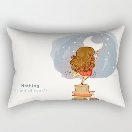 Nothing is out of reach Rectangular Pillow