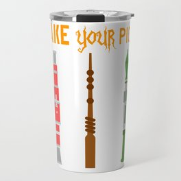 "A Nice Picking Tee For A Picky You Saying ""Take Your Pick"" T-shirt Design Rocket Bazooka Harry Travel Mug"