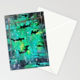 Teal hammerheads Stationery Cards