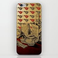whiskey iPhone & iPod Skins featuring Tea & Whiskey by Ela Caglar