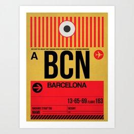 BCN Barcelona Luggage Tag 1 Art Print