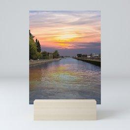 Ballard Locks at Sunrise Mini Art Print