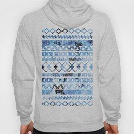 Watercolor creative black blush blue geometrical aztec Hoody
