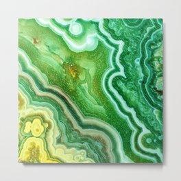 Green Onyx Marble Metal Print
