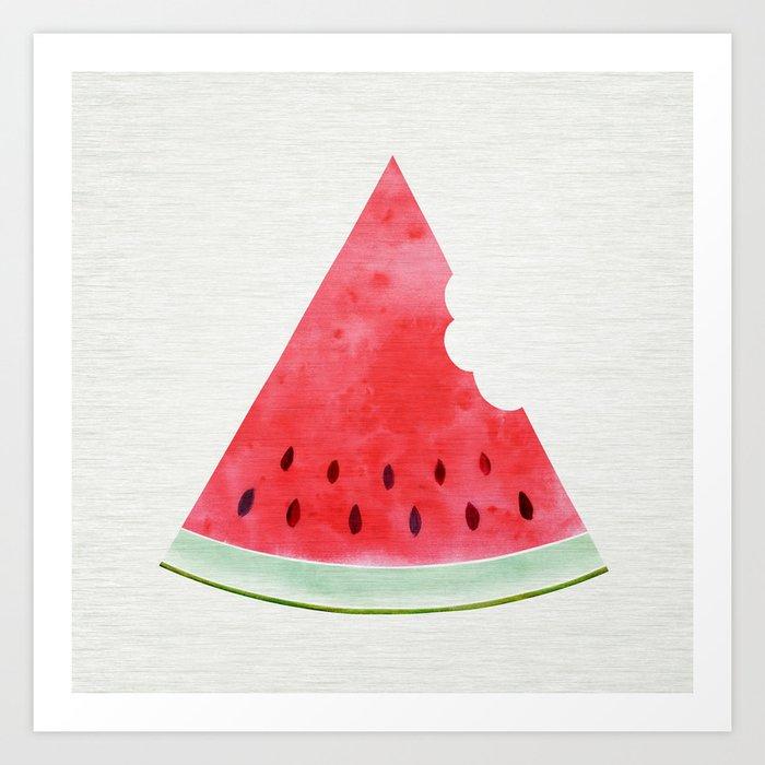 Summertime Watermelon Art Print