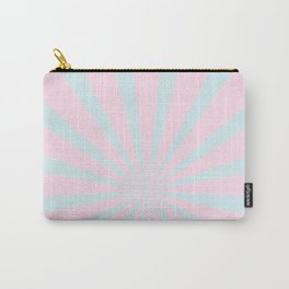 Starbust 60's pastel-Pink Aqua geometric Pattern Carry-All Pouch