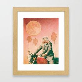 Hotline Miami Inspired Owl Framed Art Print