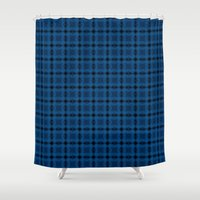jay fleck Shower Curtains featuring Steller's jay by Patternjar