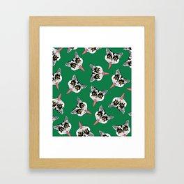 Cat got your tongue? Framed Art Print