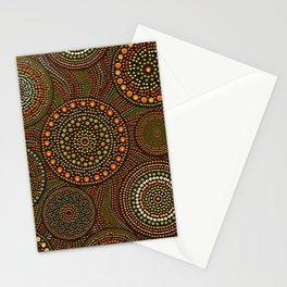Dot Art Circles Aboriginal Art #1 Stationery Cards