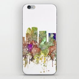 Louisville, Kentucky Skyline - Faded Glory iPhone Skin