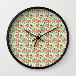 Fancy Chickens Wall Clock