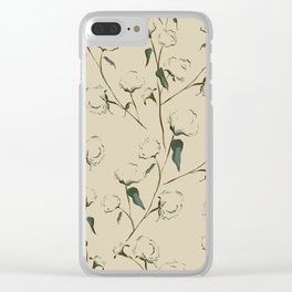 Cotton Bolls Clear iPhone Case