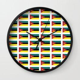 Flag Of mozambique-Mozambique,mozambican,Moçambique,moçambicano,moçambicana,Maputo Wall Clock