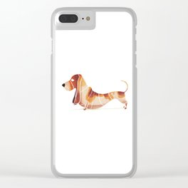 basset Clear iPhone Case