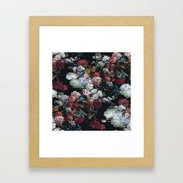 FLOWERS FLOWERS FLOWERS ... JUST FLOWERS (FLORAL) Framed Art Print