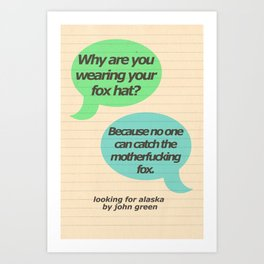 Fox Hat Art Print
