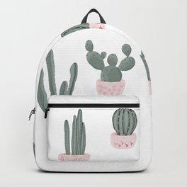 Elegant Cacti in Pots Pattern Backpack