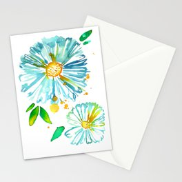 Lakeside Watercolour Blue Daisies Stationery Cards