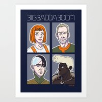 fifth element Art Prints featuring Fifth Element by enerjax
