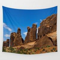 utah Wall Tapestries featuring Monuments-Moab-Utah by Susy Margarita Gomez