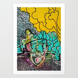 the music in my head Art Print