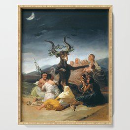The Sabbath of Witches Goya Painting Serving Tray