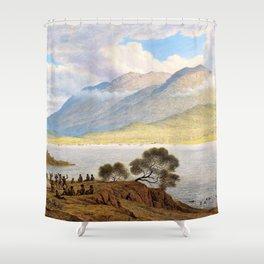 12,000pixel-500dpi - Mount Wellington And Hobart Town From Kangaroo Point - John Glover Shower Curtain