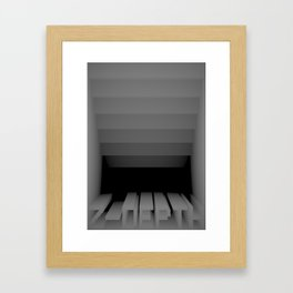 3D Z-DEPTH Framed Art Print
