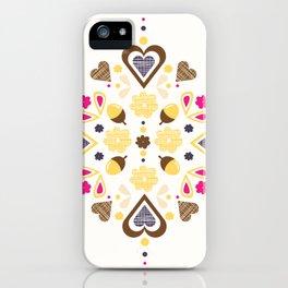 I heart acorns iPhone Case