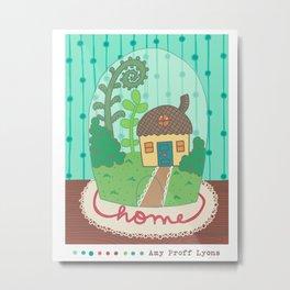 Tiny [gnome] Home Metal Print