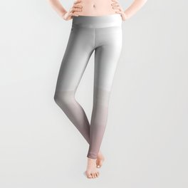 Touching Blush Gray Watercolor Abstract #3 #painting #decor #art #society6 Leggings