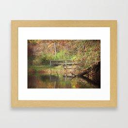 Bridge Over Oak Creek Pond Framed Art Print