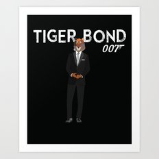Tiger Bond Art Print