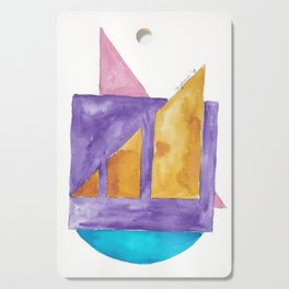 180818 Geometrical Watercolour 2| Colorful Abstract | Modern Watercolor Art Cutting Board