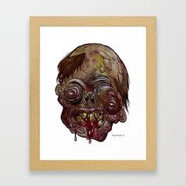 Heads of the Living Dead  Zombies: Quasimodo Zombie Framed Art Print