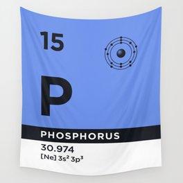 Periodic Element B - 15 Phosphorus P Wall Tapestry