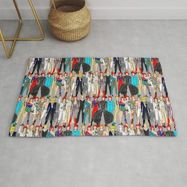 Heroes Doodle Square Rug