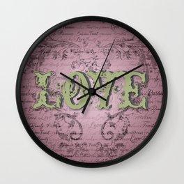 Love Rosa Wall Clock