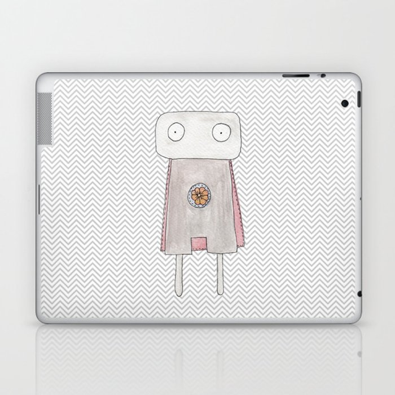 Robot superhero Laptop & iPad Skin