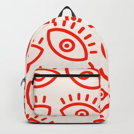 Eye Pattern Backpack