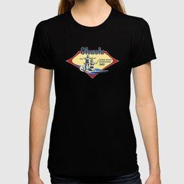 Tandem Surfing Hawaiian Surfboard and Pareau Designs T-shirt