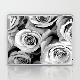 Black and White Roses Laptop & iPad Skin