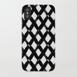 Black and White Criss Cross Pattern Modern Contemporary iPhone Case
