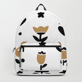Minimal flowers bicolor Backpack